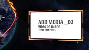 Space and Earth Media Panels (Orange) AE Version 5