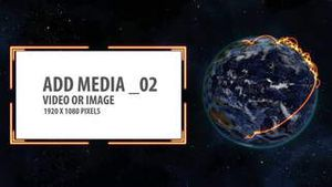 Space and Earth Media Panels (Orange 2) AE Version 5