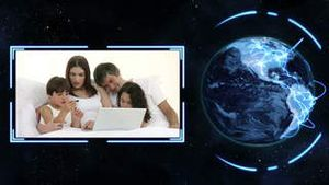Earth turning on its axis longside videos of families with earth image courtesy of Nasa.org