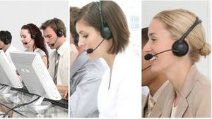 Montage footage of a business call centre
