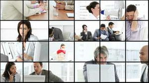 Business people stressed in the office