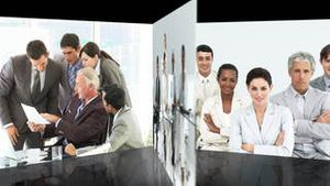 Business team at work Montage
