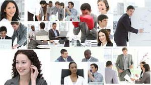 Montage of Business people at work
