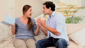 Man announcing a good news to his wife