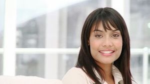 Portrait of a smiling ethnic businesswoman