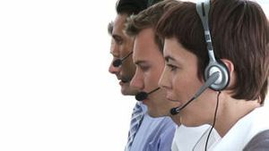 Business people working hard in a call center
