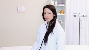 Woman doctor in a office