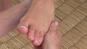 Close up of a foot massage