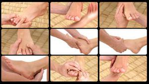 Animation presenting the feet massage