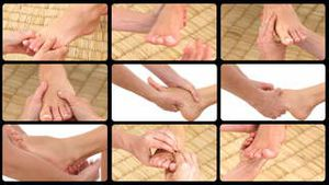 Montage presenting foot massages