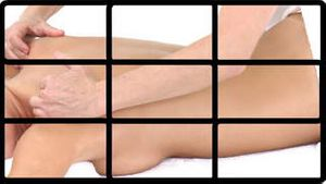 Montage of a woman having spa treatments
