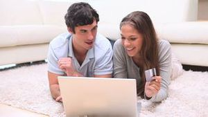Couple doing their shopping online