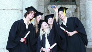Graduates take self portrait together