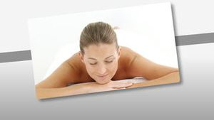 Montage of a relaxed woman enjoying a Spa treatment