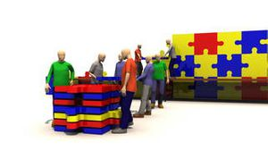 Animation showing the concept of teamwork