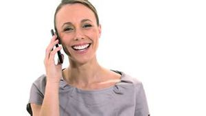 Businesswoman talking on a smartphone
