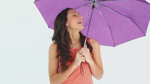 Lady and her umbrella