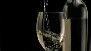 Wine being poured in super slow motion