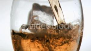 Drink been poured in super slow motion