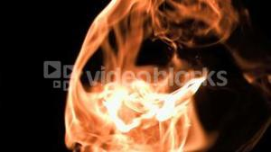 A flame in super slow motion