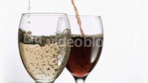 Drinks being poured in super slow motion