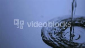 Water flowing in super slow motion
