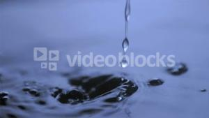 Dripping in super slow motion in water