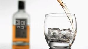 Pouring scotch in super slow motion