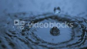 Drops falling in super slow motion