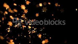 Sixpointed stars flowing in super slow motion
