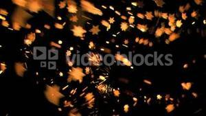 Nice sixpointed stars shining in super slow motion