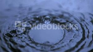 Drops of water in super slow motion making ripples