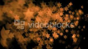 Stars shapes flowing in super slow motion