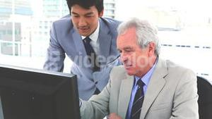 Japanese businessman with his boss