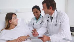 Doctor giving explanation to a patient