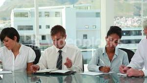 Business team working seriously