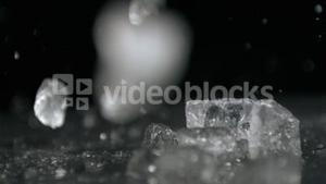 Ice falling in super slow motion