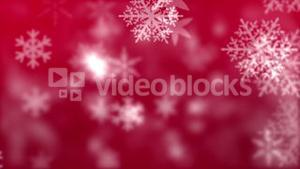 Snowflakes against red background