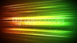 Digital stroke with sparks in orange yellow and green