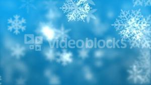 Snowflakes against blue background