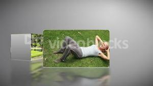 Woman working out in a park