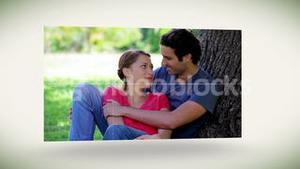 Young lovers in a park