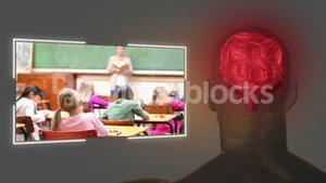 Videos of a primary classroom with brain