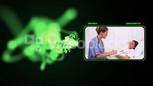 Medical videos with a green light