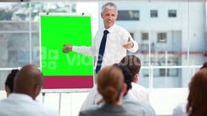 Video of business people in a meeting