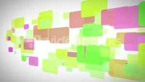 Yellow green and purple rectangles moving