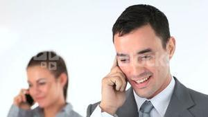 Business people calling