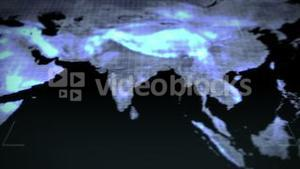 Continents in chroma key with Earth image courtesy of Nasa.org