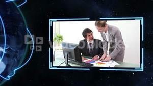 Business videos with Earth image courtesy of Nasa.org
