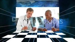 Medical videos with a checkerboard